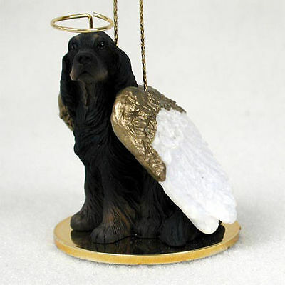 Gordon Setter Dog Figurine Angel Statue