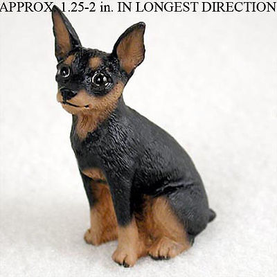 Mini Pinscher Mini Resin Hand Painted Dog Figurine Blac