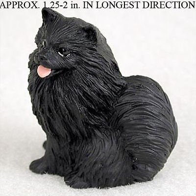 Pomeranian Mini Hand Painted Figurine Black