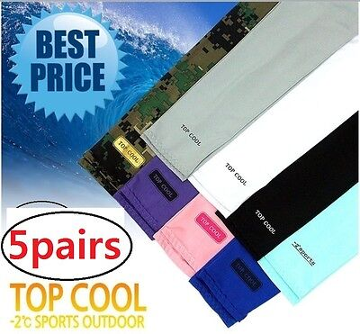 5p COOL ARM SLEEVE Sports GUARD UV COMPRESSION TOP cooling ARM SLEEVES