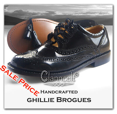 **SALE** GHILLIE BROGUES - LUXURY HANDCRAFTED LEATHER GOODYEAR WELTED Kilt Shoes