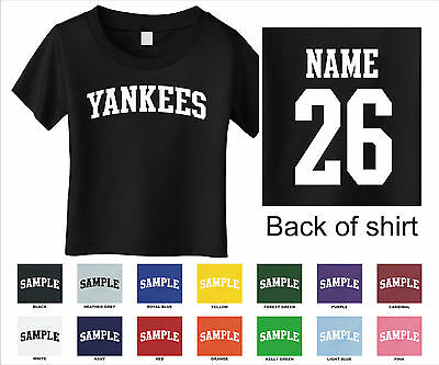 Yankees Custom Personalized Name & Number Infant or Toddler T-shirt
