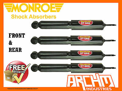 Holden Torana Lc/lj 6Cyl Sedan Front & Rear Monroe Gt Gas Shock Absorbers