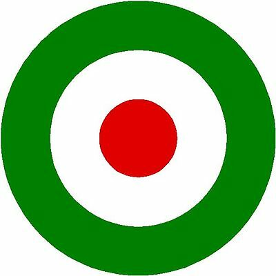 Cut vinyl sticker CIRCULAR ITALY FLAG. Duration outdoors > 10 years