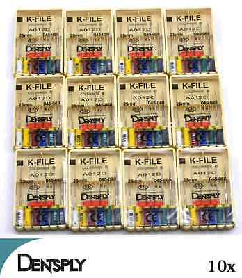 Dentsply Maillefer K-File Endodontic Dental Files 10 Packs 15-40 25mm