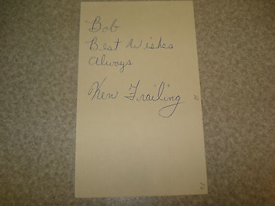 1972 Ken Frailing Autograph Index card Rare 3X5 Signed Debut Year Auto Chicago