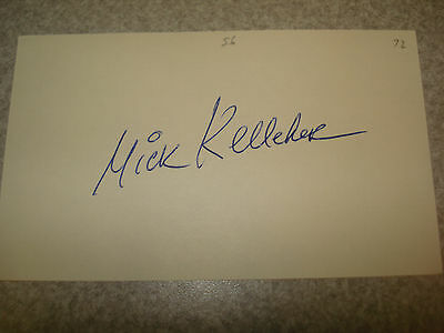 1972 Mick Kelleher Autograph Index card Rare 3X5 Signed Debut Year Auto