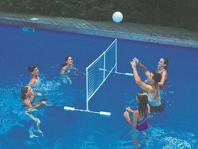 Super GIANT VOLLEYBALL SET Swimming POOL Toy Float Ball FLOATING Game NET 9167