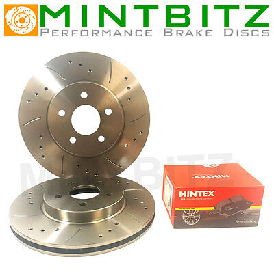 Audi Q7 3.0 3.6 4.2 6.0 Drilled And Grooved Front Brake Discs And Mintex Pads