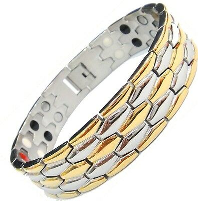 Magnet Magnetic Stainless Steel Energy  Power Bracelet Health Bio Men's  Male
