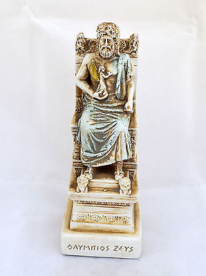Zeus Ancient Greek God king leader of all 12 Gods sculpture statue artifact