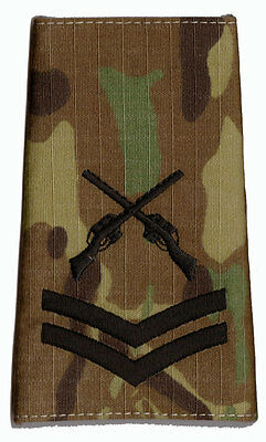 Pair Black - MULTICAM MTP SAA CPL Rank Slides Corporal (Skill At Arms Instructor