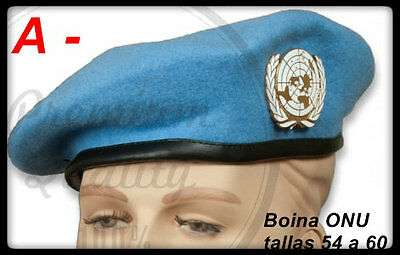 BOINA AZUL ONU -BERET UNITED NATIONS