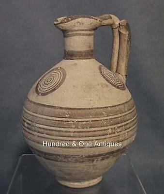 Sign In Ancient Cypriot Bichrome Ceramic Wine Jug CYPRUS: 750-600 B.C.