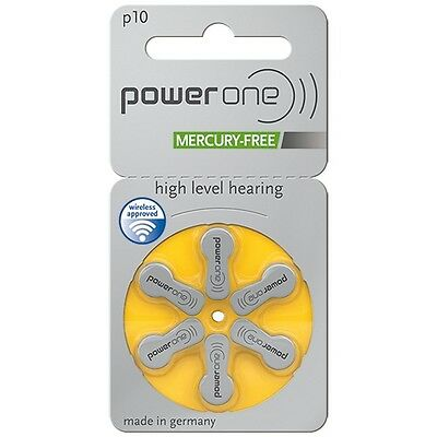 Power One Mercury Free Hearing Aid Batteries x60 Size 10