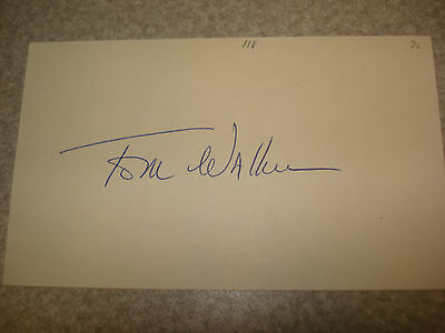 1972 Tom Walker Autograph Index card Rare 3X5 Signed Debut Year Auto (1972)