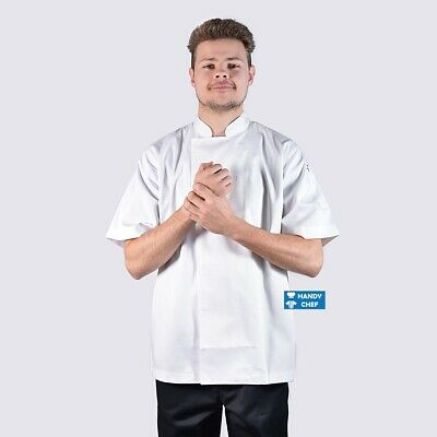 Unisex Chef Jacket with Press Studs  - Most Durable Chef Jackets - Black, White