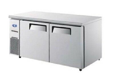 Commercial Fridge Two door undercounter freezer for kitchen restaurant and cafe