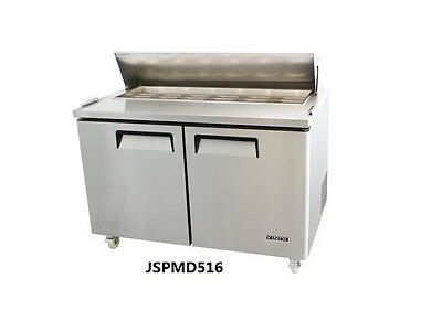 Commercial Two big door salad prep table refrigerator for kitchen restaurant
