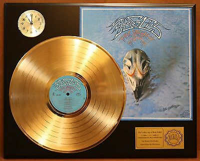 The Eagles Gold Lp Ltd Record & Clock Display Quality Collectible Free Shipping