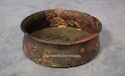 Ancient Greek Bronze Bowl with Traces of Gold Gilding 5th century B.C.