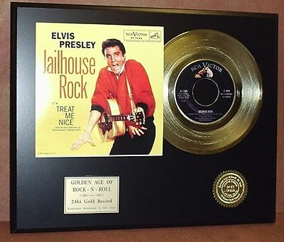 Elvis Presley Jailhouse Rock - 24k Gold Record Limited Edition - USA Ships Free