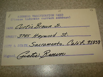 1973 Curtis Brown Autograph Index card Rare 3X5 Signed Debut Year Auto Expos