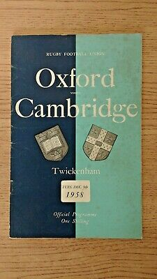 Oxford v Cambridge 1958 Rugby Programme