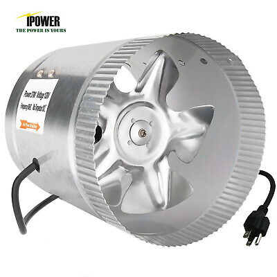 """iPower 4"""" 6"""" 8"""" Inch Booster Fan Inline Exhaust Blower for Ducting Vent Cooling"""