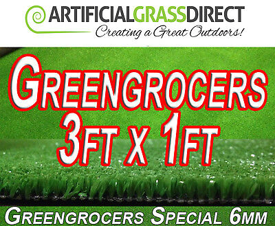 **Artificial Grass Mat - Greengrocers Display Mats - 3ft x 1ft**