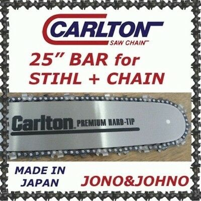 "Carlton 25"" Bar and Chain Combo for Stihl 050 MS880 Semi 3/8 063 88DL"