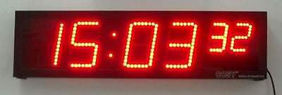 """LED Display Clock / Stopwatch in 4"""" high digits, Gym Fitness Workout Timer"""