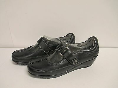 """Aerosoles /""""Bookend/"""" Mary Janes Wide Black Leather New in Box"""