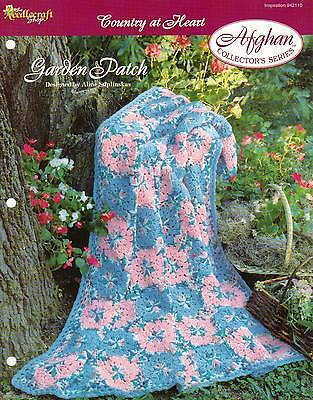 Garden Patch Flower Afghan Crochet Pattern Instructions Collector's Series
