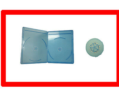 12 Pk VIVA ELITE 6mm Slim Blu-Ray Replace case Double hold 2 Discs Storage Box