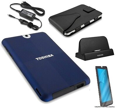 Toshiba Thrive Bundle w/Dock,AC Adapter,Carrying Case,Case & Screen New