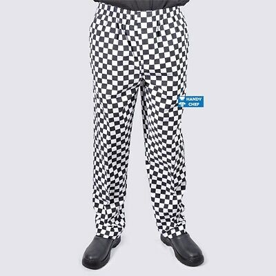 Chef Pants - Most Durable Chef Pants - Black & White Diamond Check Style