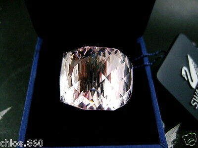 Signed Swarovski Lt Rose Crystal Nirvana  Ring Sm 52 New In Box Rare Collector !