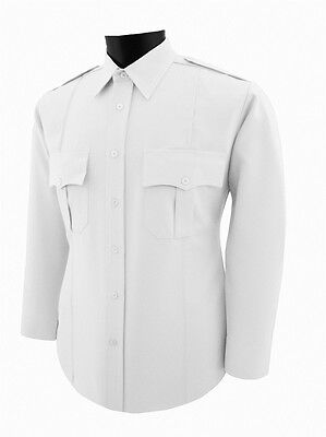Security guard Police white polyester uniform  shirt Long Sleeve