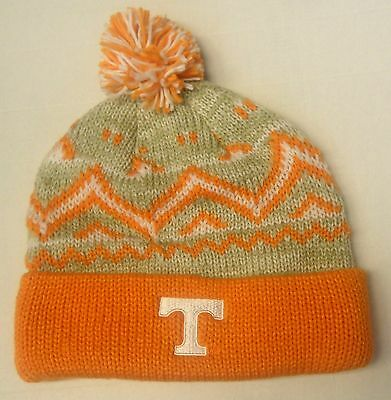 6896e10680a NWT NCAA Tennessee Volunteers Adidas Pom Cuffed Winter Knit Hat Beanie Cap  OSFA