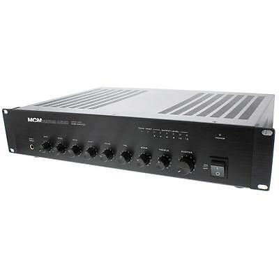 "NEW 240W 70v Paging Amplifier.6 inputs.Commercial Background Music.19"" Rack.amp"