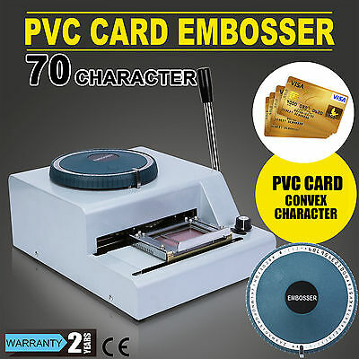 70 Letter Manual Embosser Machine PVC Gift Card Credit ID VIP Stamping Embossing