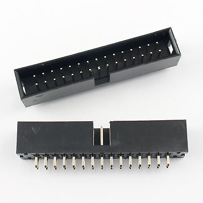 20Pcs 2.54mm 2x15 Pin 30 Pin Straight Male Shrouded PCB Box header IDC Socket