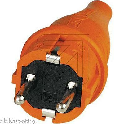 Schukostecker ABL Gummi Stecker orange Signalstecker
