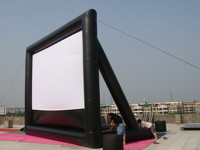 Deluxe 20x12 VBI inflatable movie screen with free blower