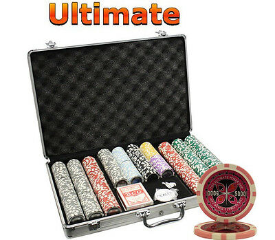 650pcs 14G ULTIMATE CASINO CLAY POKER CHIPS SET WITH ALUMINUM CASE