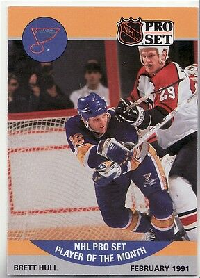 "1990-91 Pro Set ""Player Of The Month"" P3 Brett Hull February 1991"