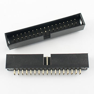 10Pcs 2.54mm 2x17 Pin 34 Pin Straight Male Shrouded PCB Box header IDC Socket
