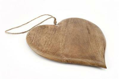 Beautiful Large Wooden Heart Bread Board Serving 36cm Country Rustic Kitchen