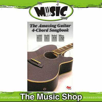 The Amazing Guitar 4 Chord Songbook - Song Book with Easy Popular Guitar Songs